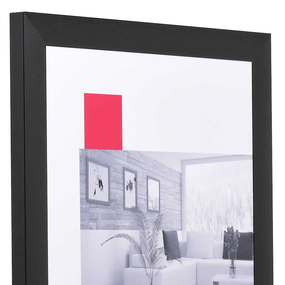 Cornice in alluminio Econ largo 50x70 cm | nero | vetro standarde