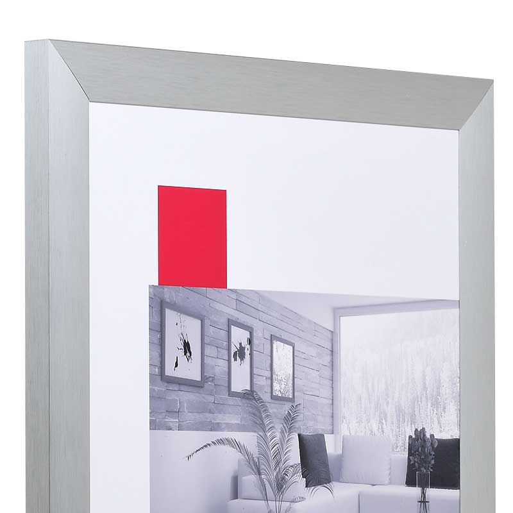 Cornice in alluminio Econ largo 60x80 cm | argento | vetro standarde