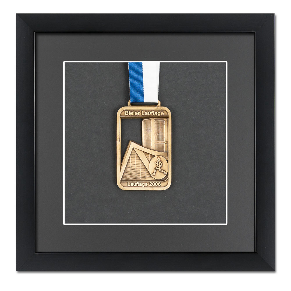 Cornice per medaglie 20x20 cm, nero