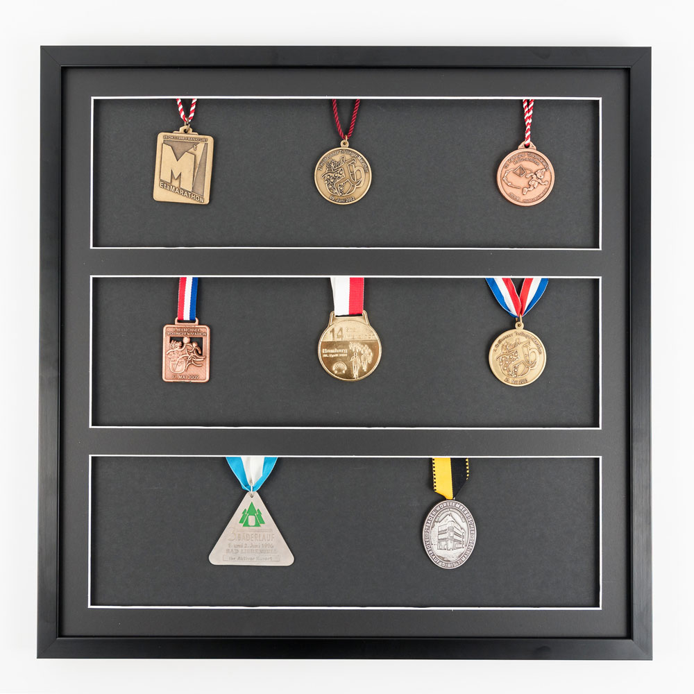 Cornice per medaglie 50x50 cm, nero