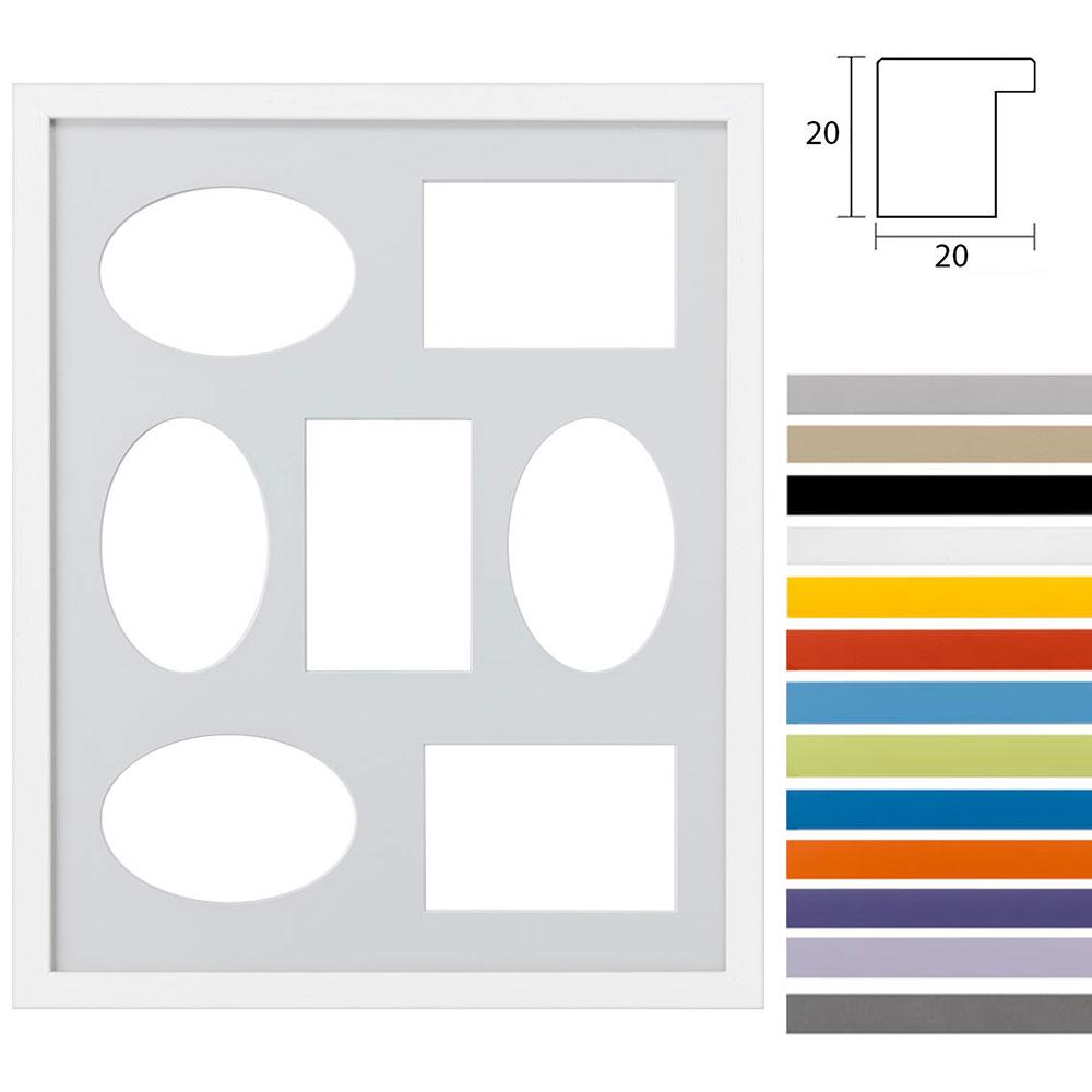 Cornice multipla Top Cube 40x50 cm per 7 foto