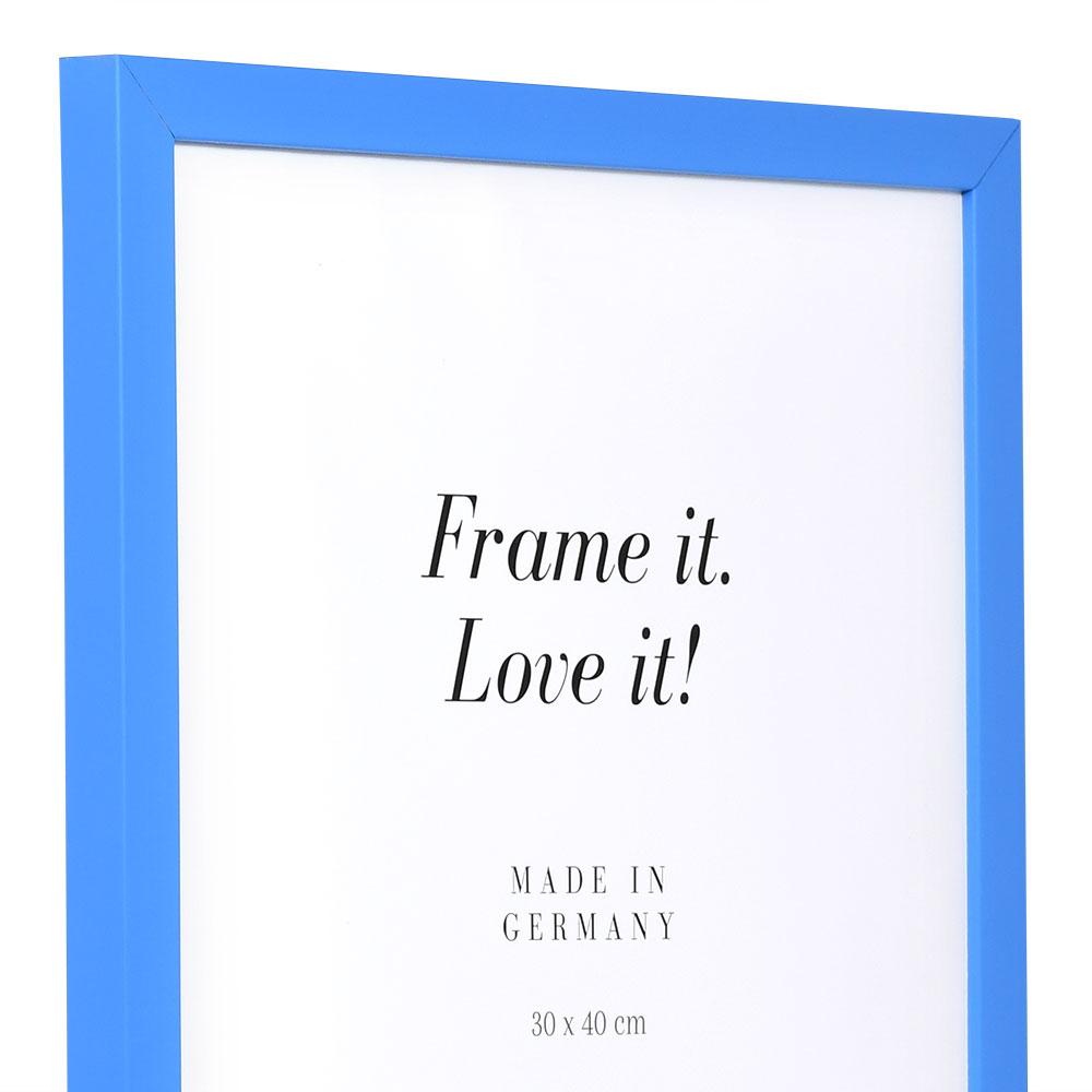 Cornice in legno Top Cube 18x24 cm | blu | vetro normale