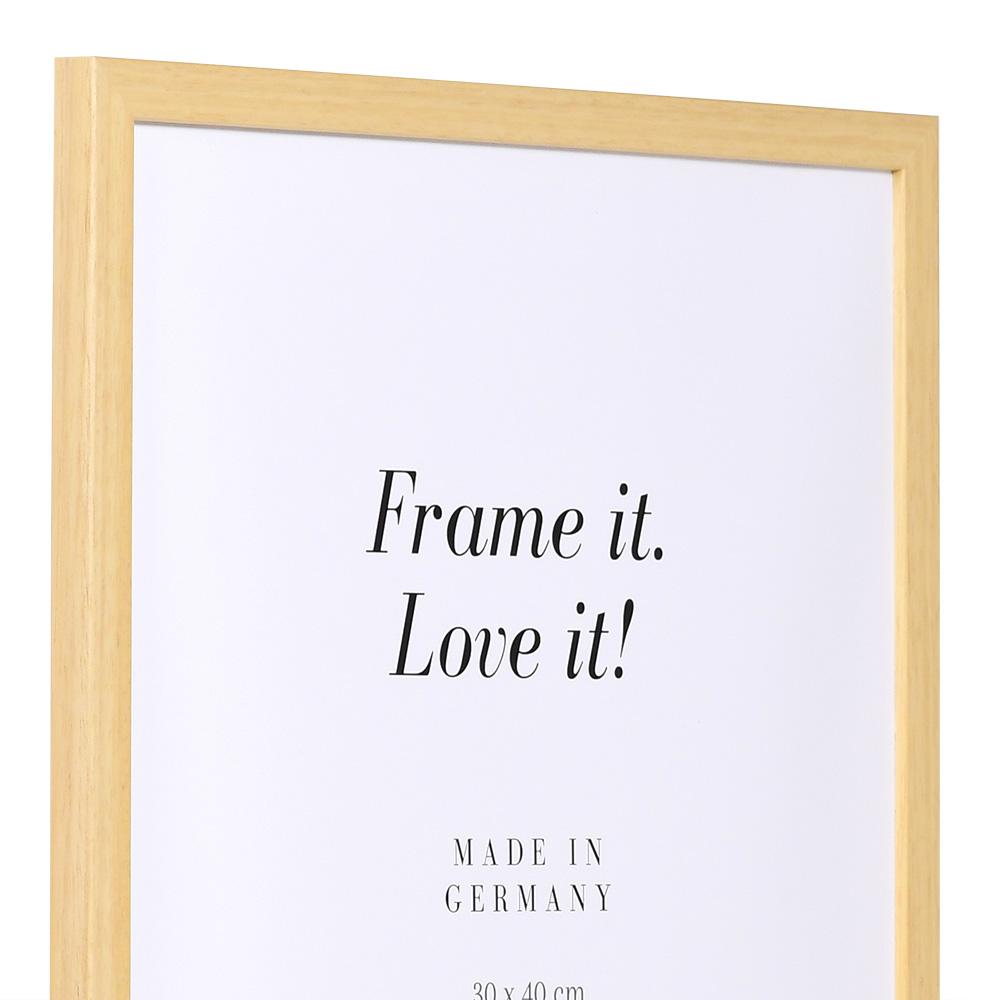 Cornice in legno Top Pro S 30x45 cm | naturale | vetro standarde