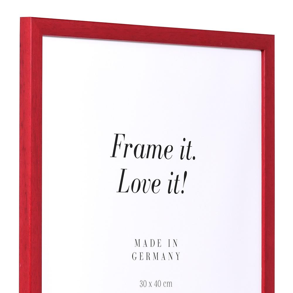 Cornice in legno Top Pro S 20x30 cm | rosso | vetro standarde