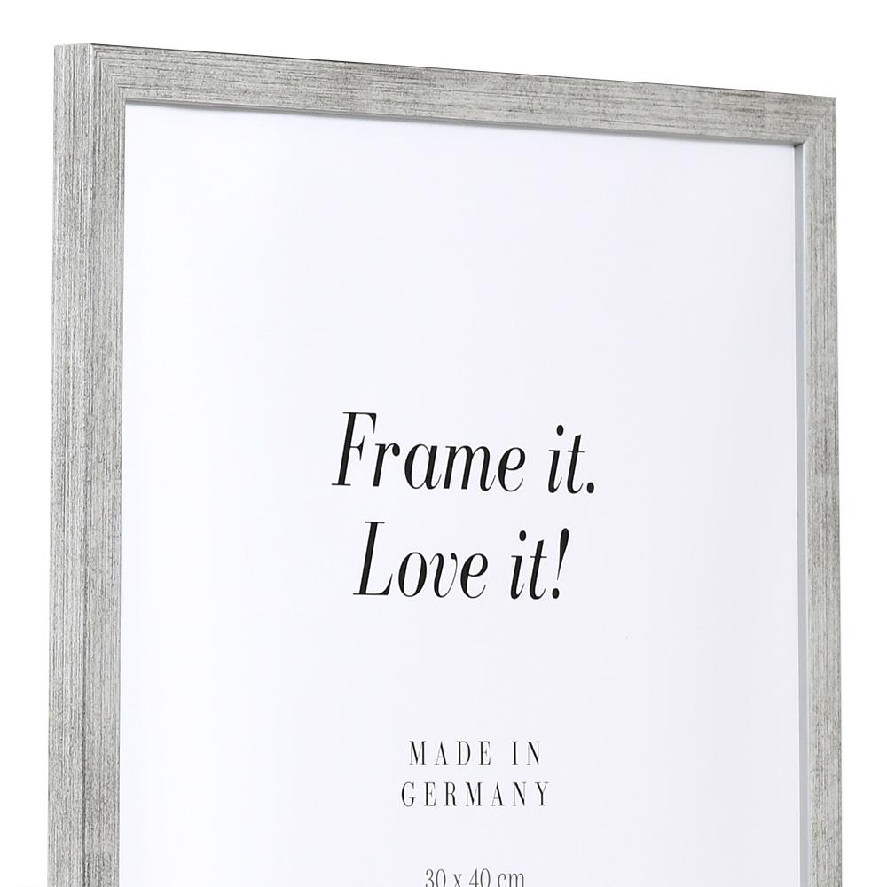 Cornice in legno Top Pro S 25x60 cm | argento | Vetro standard