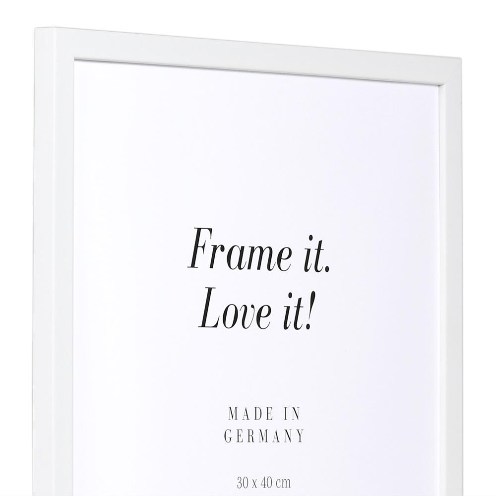 Cornice in legno Top Pro S 20x30 cm | bianco | vetro standarde