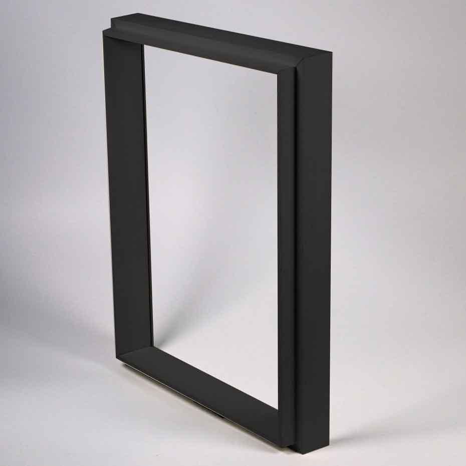Set aggiuntivo Unibox 13x18 cm   nero   senza vetro e senza pannello posteriore
