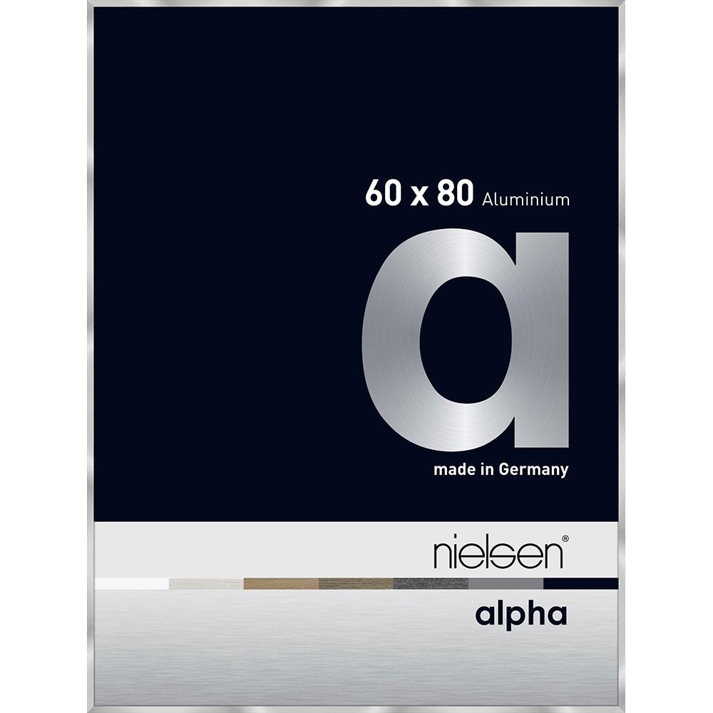 Cornice in alluminio Alpha 60x80 cm | argento | vetro standarde