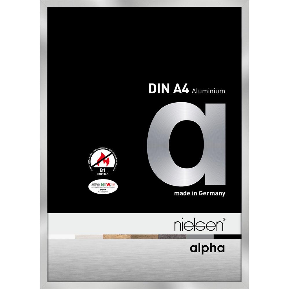 B1 cornice protezione fuoco Alpha 21x29,7 cm (A4) | argento | vetro standarde