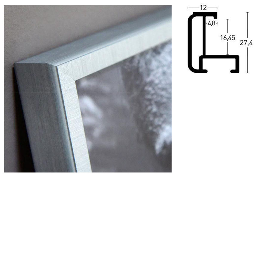 Cornice in alluminio su misura, profilo 179 Walnuss glanz | True Color Super Clear (antiriflesso)