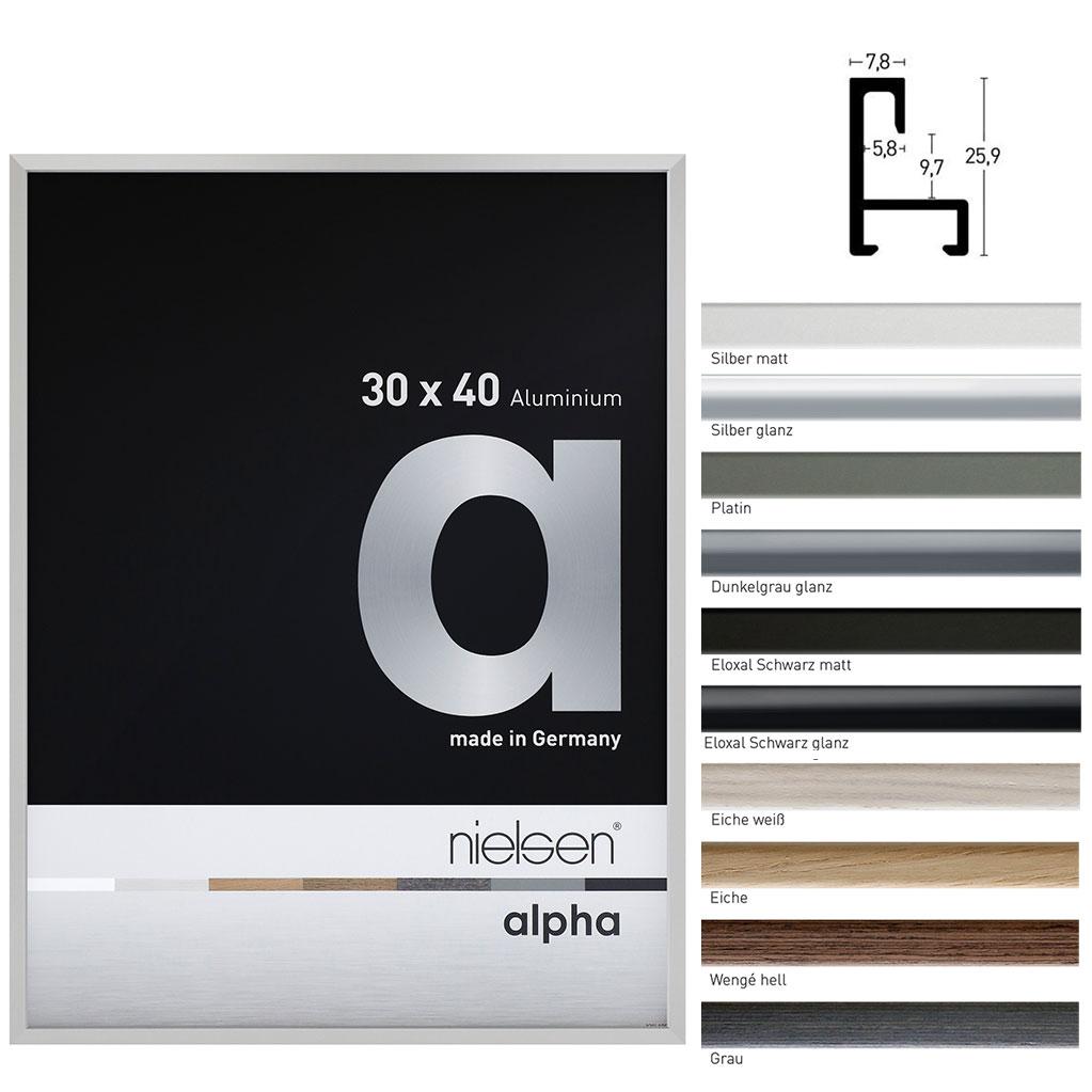Cornice in alluminio su misura, profilo alpha
