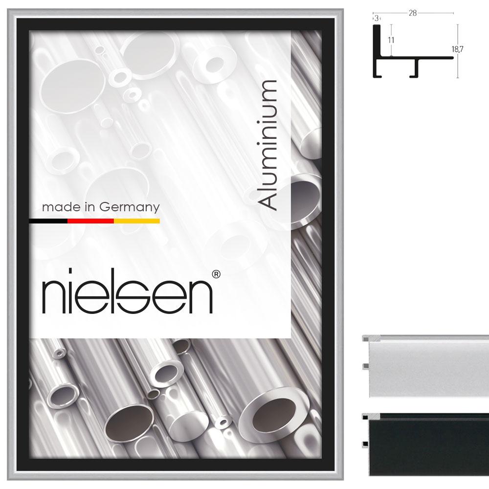 Cornice profilato di tenuta profilo 230 21x29,7 cm (A4) | argento opaco | cornice senza vetro e supporto sul retro