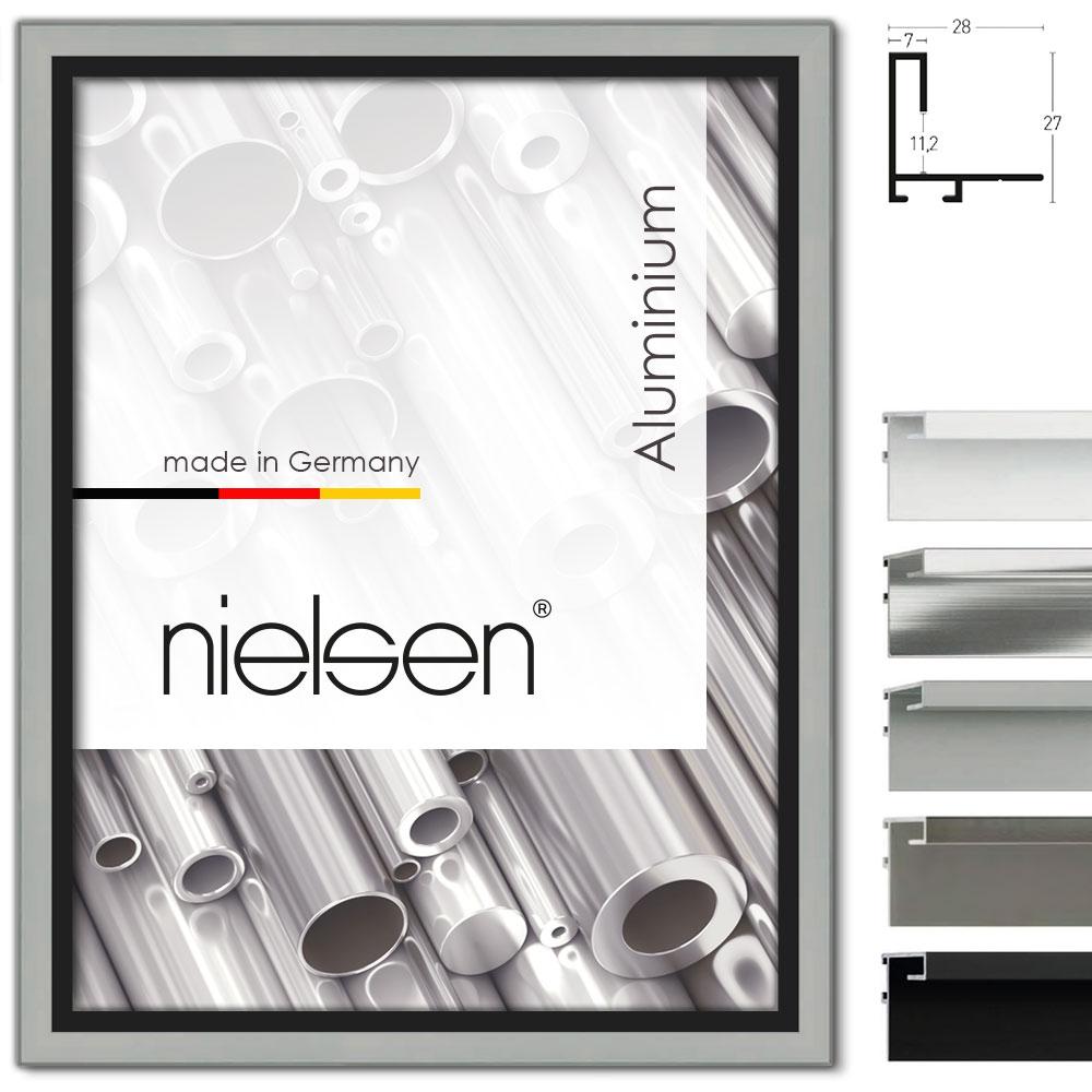 Cornice profilato di tenuta su misura, profilo 271 argento opaco | cornice senza vetro e supporto sul retro