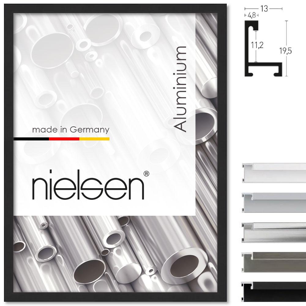 Cornice in alluminio profilo 273 30x40 cm | nero anodizzato opaco | True Color Super Clear (antiriflesso)