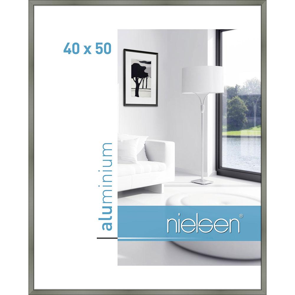 Cornice in alluminio Classic 40x50 cm | platina | vetro standarde