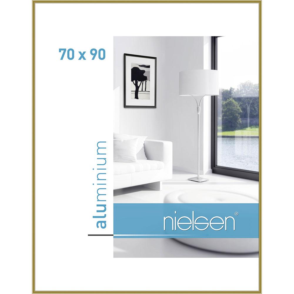 Cornice in alluminio Classic 70x90 cm | oro | vetro standarde
