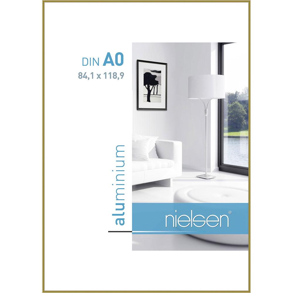 Cornice in alluminio Classic 84,1x118,9 cm (A0) | oro | vetro normale