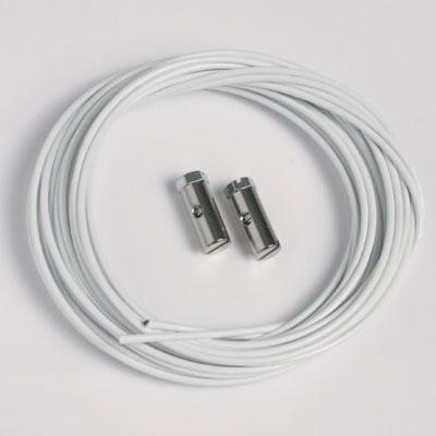 50 pezzi corde d'acciaio bianco 1,5mm/200cm con ganci a vite (portata massima 7 kg)