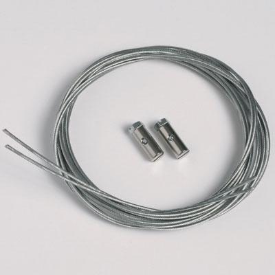 50 pezzi corda d'acciaio 1,3mm/200cm con ganci a vite (portata massima 7 kg)