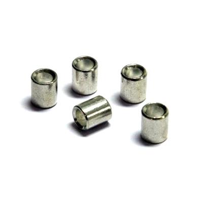 100 pezzi asola a pressione per corda di perlon (2mm) e corda d'acciaio, bianca (1,5mm)