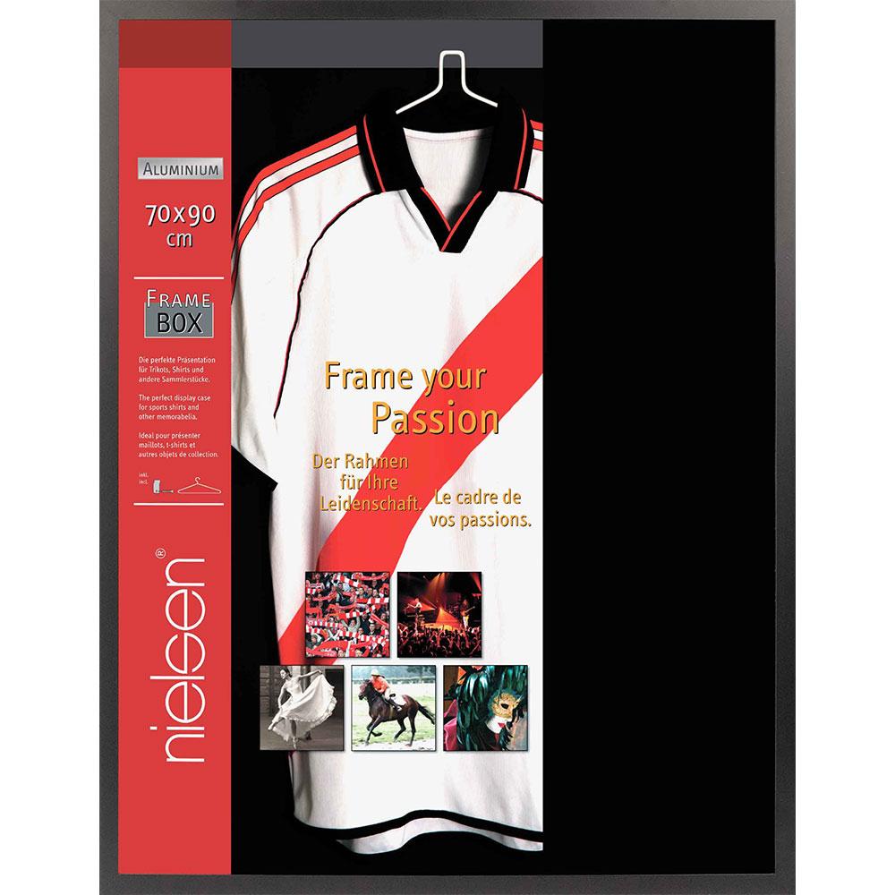 FrameBox - Cornice per magliette 70x90 cm | nero opaco | vetro artificiale