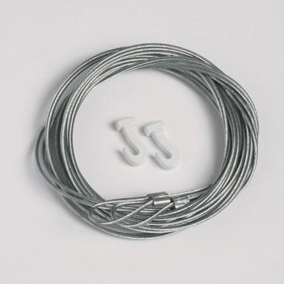 2 pezzi corda d'acciaio 1,3mm/200cm con passante und ganci scorrevoli