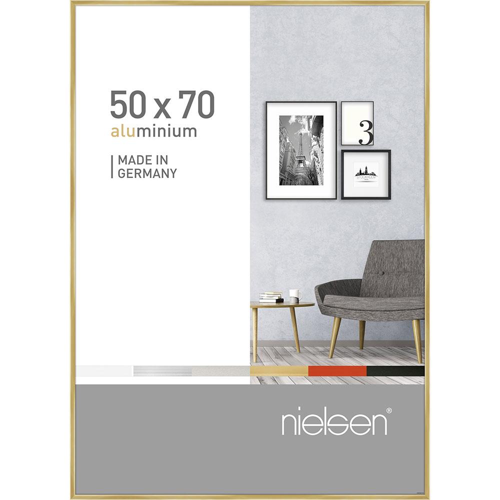 Cornice in alluminio Pixel 50x70 cm | oro brillante | vetro standarde