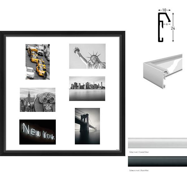 Cornice galleria Junior quadrato 6 immagini