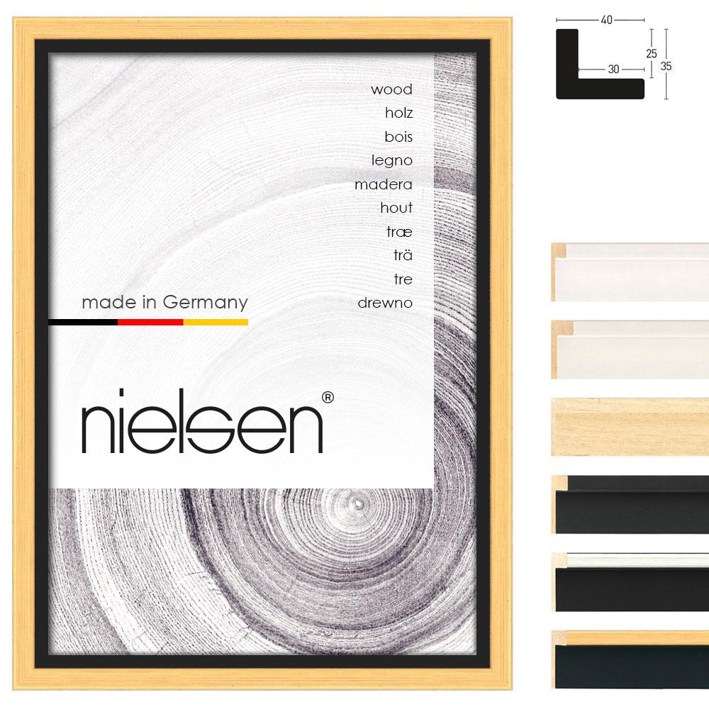 Cornice profilato di tenuta su misura, Art 40 nero-oro | cornice senza vetro e supporto sul retro