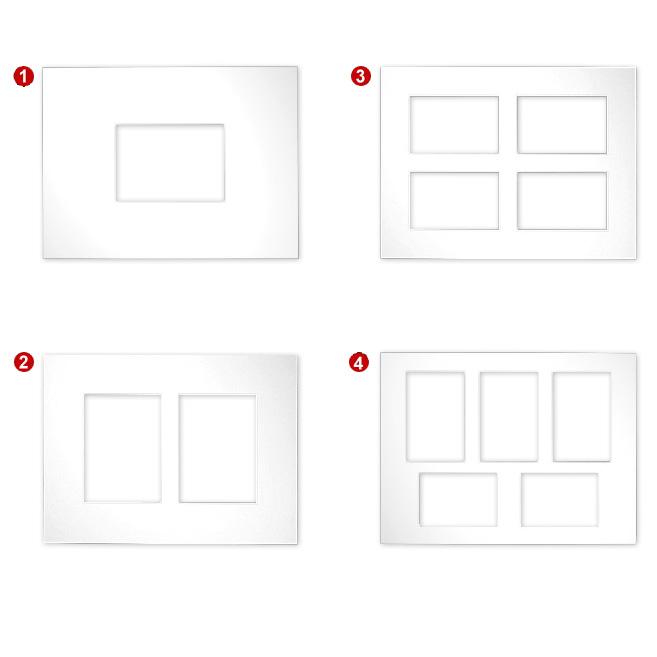 Passe-partout gallerias 2,5 mm, Formato esteriore 30x40