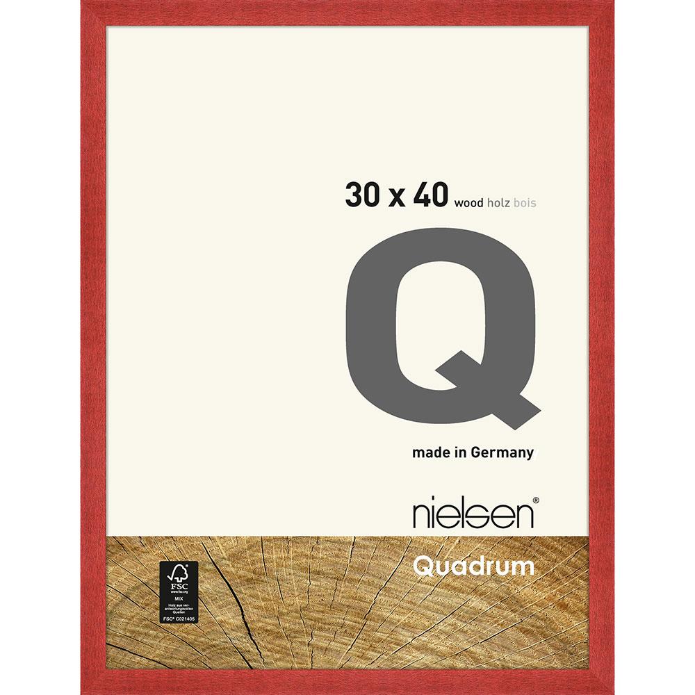 Cornice in legno Quadrum 30x40 cm | rosso | Vetro standard