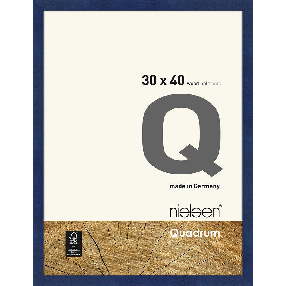 Cornice in legno Quadrum 30x40 cm | Blu | Vetro standard