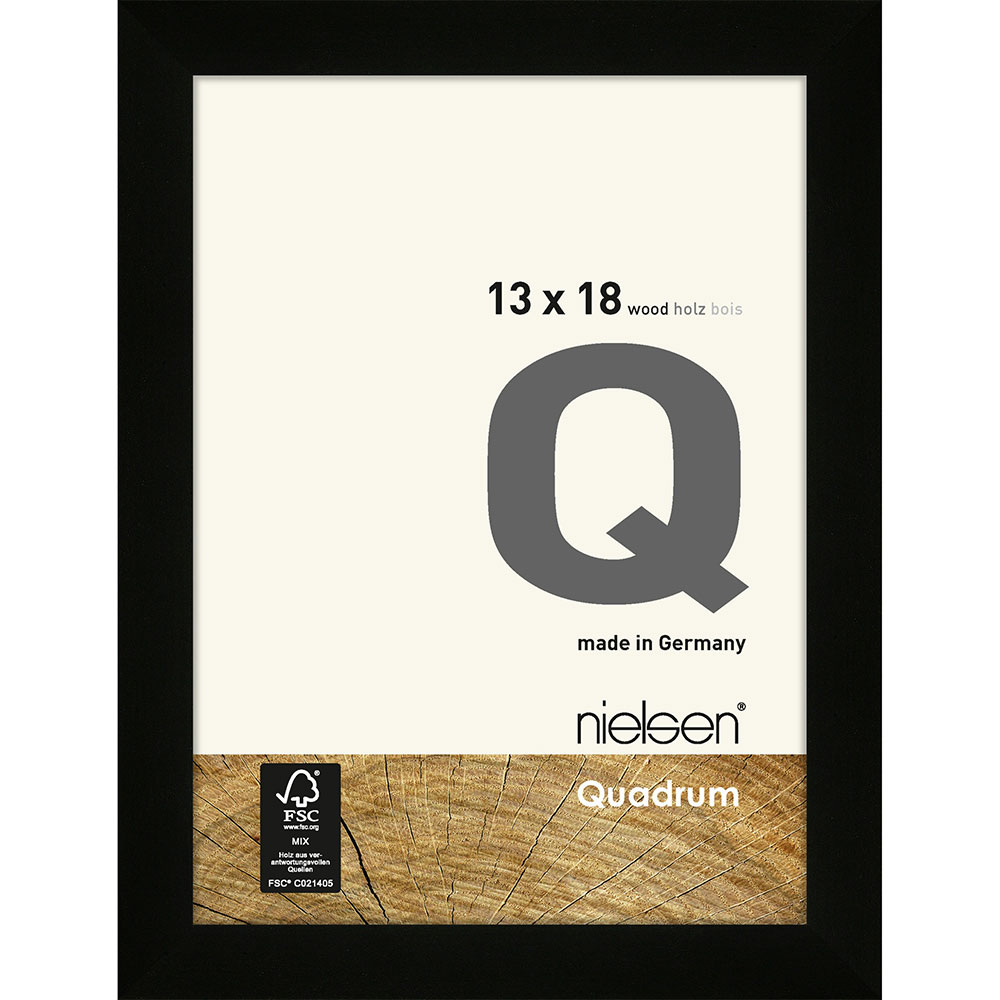 Cornice per foto Quadrum 13x18 cm | nero | vetro standarde