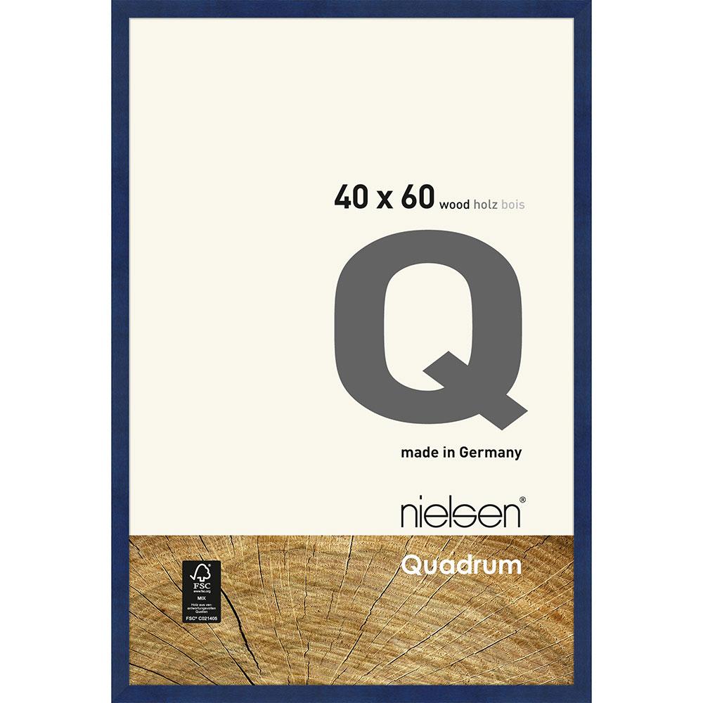 Cornice in legno Quadrum 40x60 cm | Blu | Vetro standard
