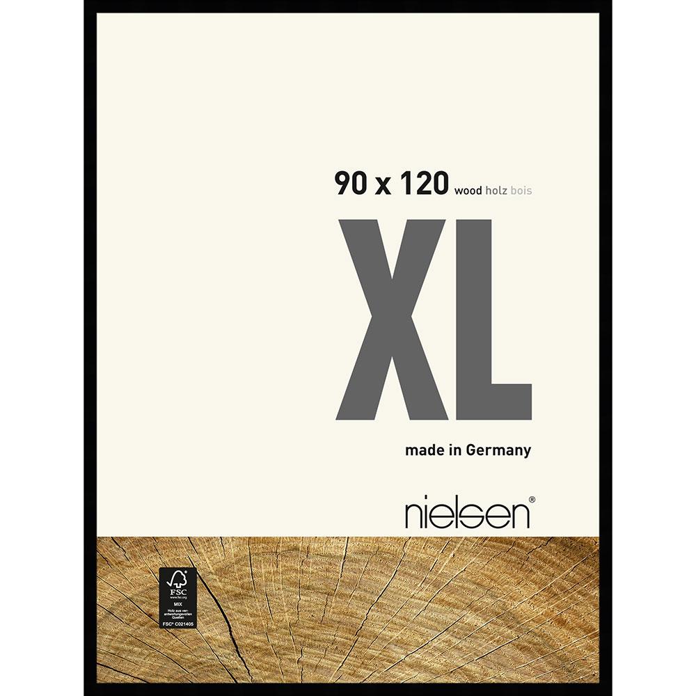 Cornice in legno Quadrum XL 90x120 cm | nero | vetro standarde