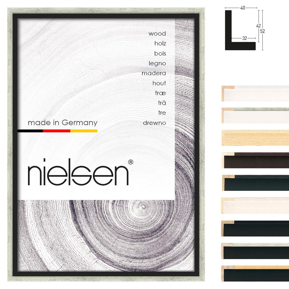 Cornice profilato di tenuta Studio 40 30x40 cm | bianco velato | cornice senza vetro e supporto sul retro