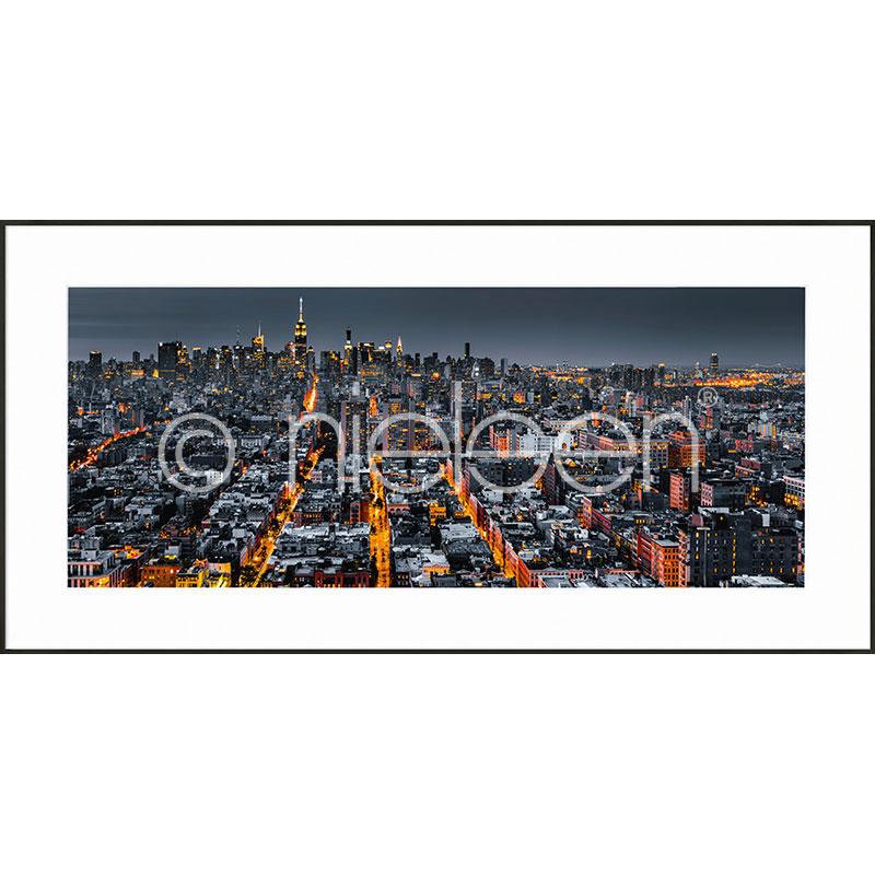 """Immagine incorniciata """"New York Skyline"""" con cornice in alluminio C2"""