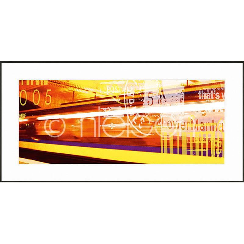 """Immagine incorniciata """"Metro Lower Manhattan"""" con cornice in alluminio C2"""