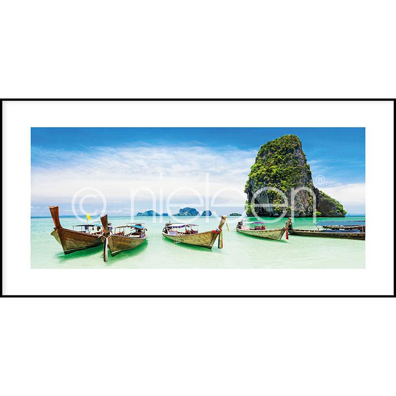 """Immagine incorniciata """"Exotic Island"""" con cornice in alluminio C2"""
