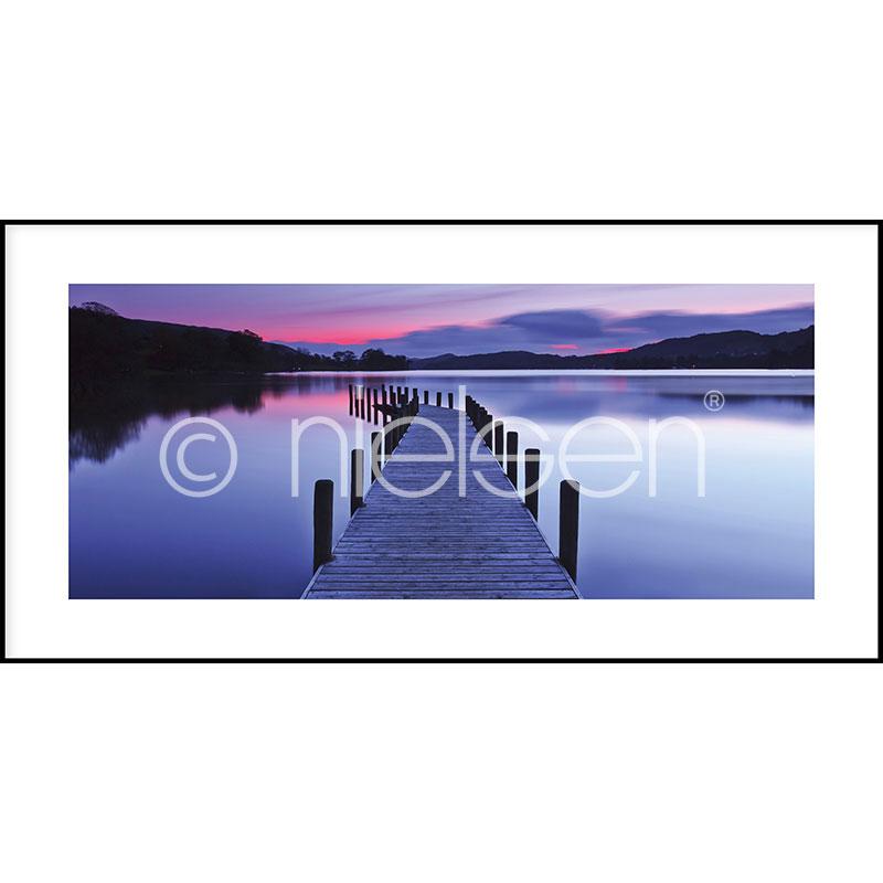 """Immagine incorniciata """"Footbridge Sunset"""" con cornice in alluminio C2"""