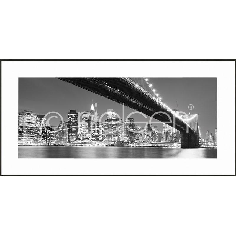 """Immagine incorniciata """"Brooklyn Bridge"""" con cornice in alluminio C2"""