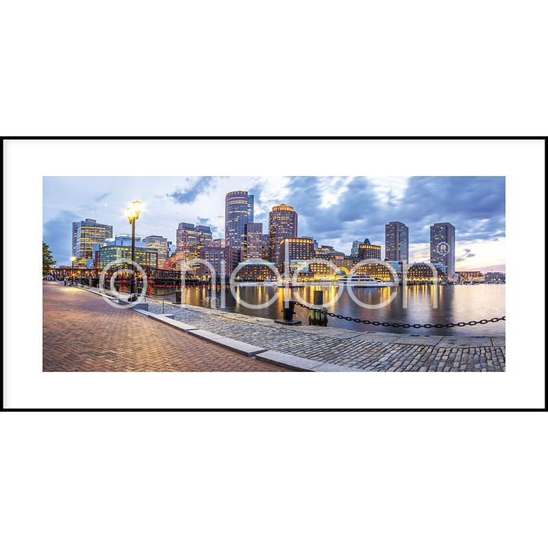 """Immagine incorniciata """"Promenade"""" con cornice in alluminio C2"""