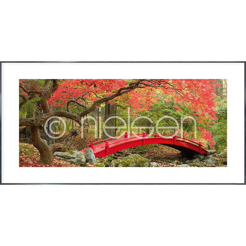 """Immagine incorniciata """"Bridge in red"""" con cornice in alluminio Alpha"""