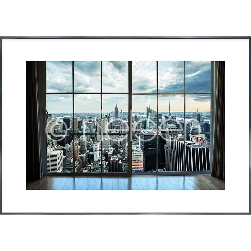 """Immagine incorniciata """"Living Room"""" con cornice in alluminio Alpha"""