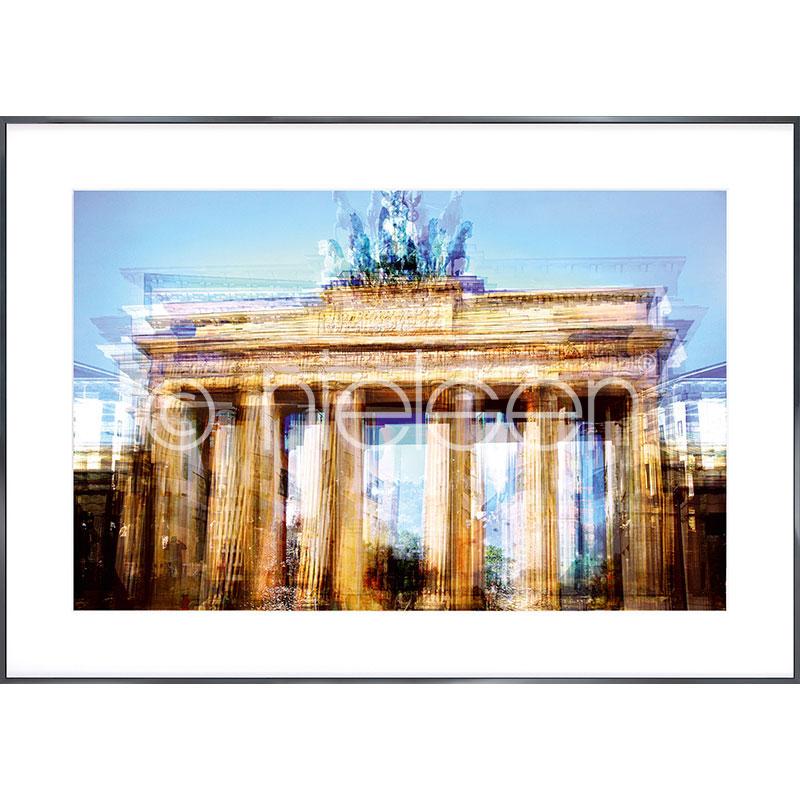 """Immagine incorniciata """"Brandenburg Gate"""" con cornice in alluminio Alpha"""