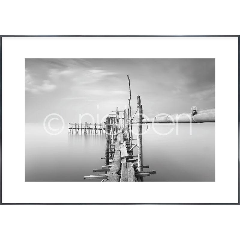 """Immagine incorniciata """"Malaysian Fishing I"""" con cornice in alluminio Alpha"""