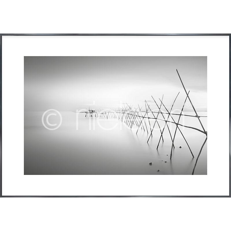 """Immagine incorniciata """"Malaysian Fishing II"""" con cornice in alluminio Alpha"""