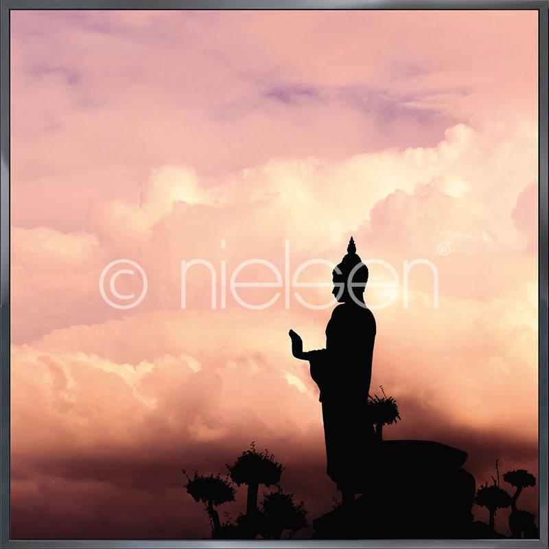 """Immagine incorniciata """"Buddha"""" con cornice in alluminio Alpha"""