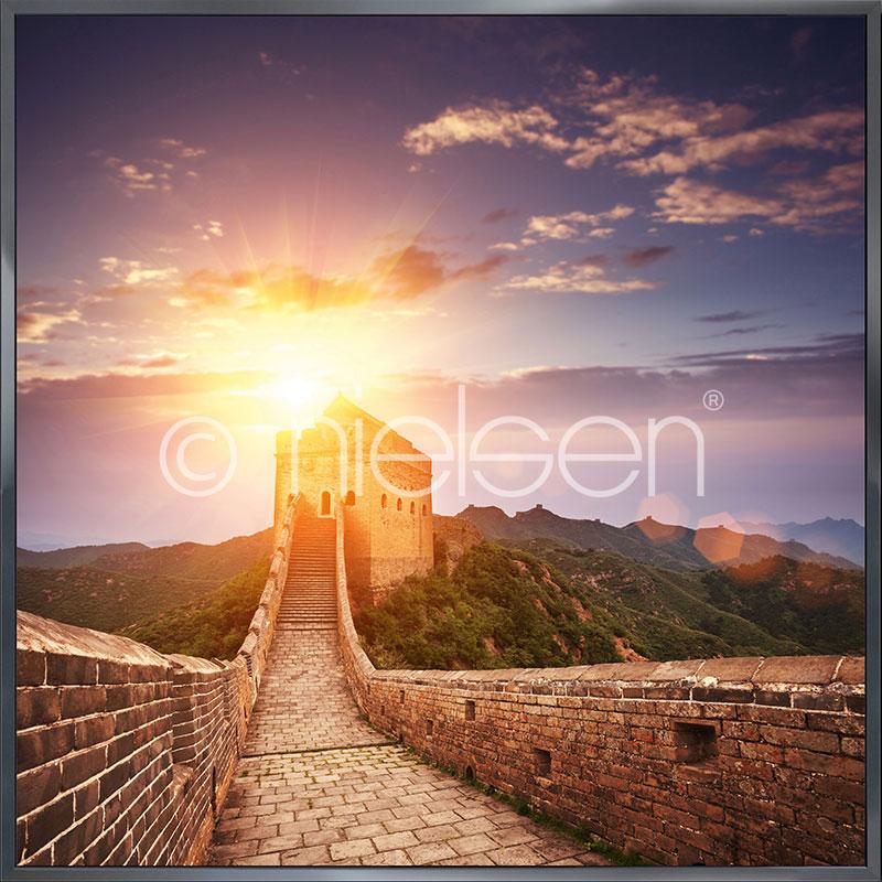 """Immagine incorniciata """"Chinese Wall"""" con cornice in alluminio Alpha"""