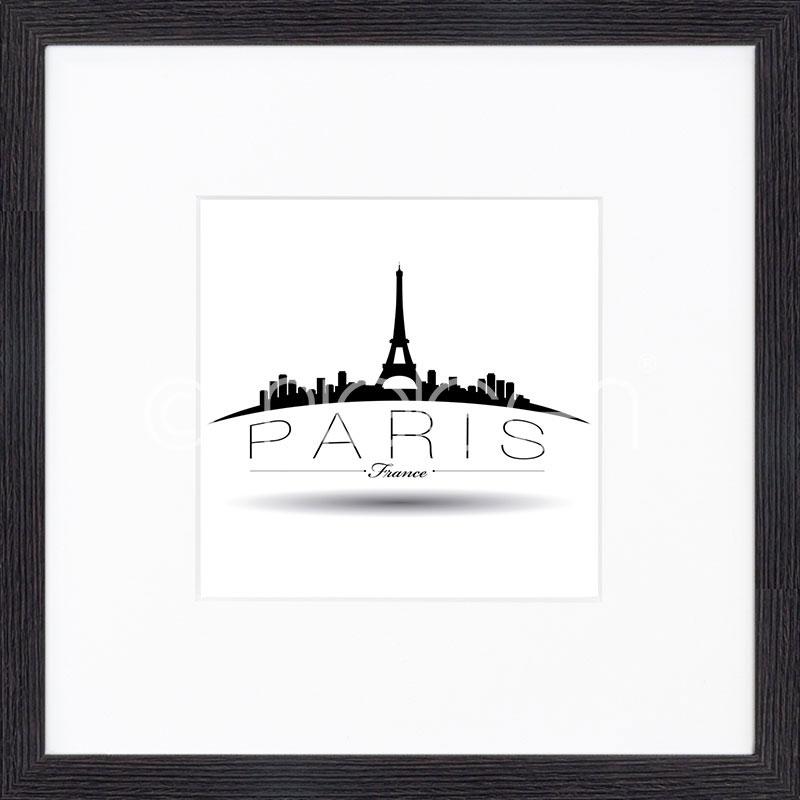 """Immagine incorniciata """"Paris"""" con cornice in legno Quadrum"""